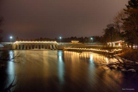 dam in winter