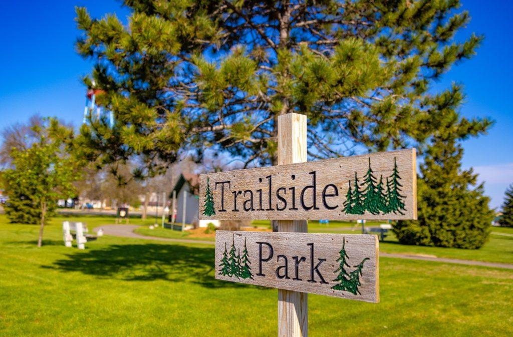 Trailside Park sign