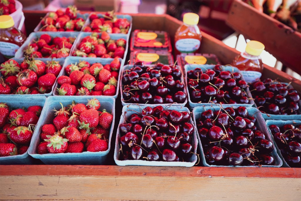 Fruits at the farmers market