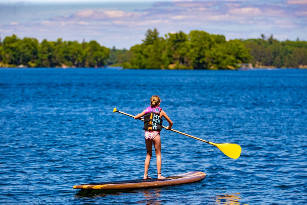 Paddleboarder at the Whitefish Chain