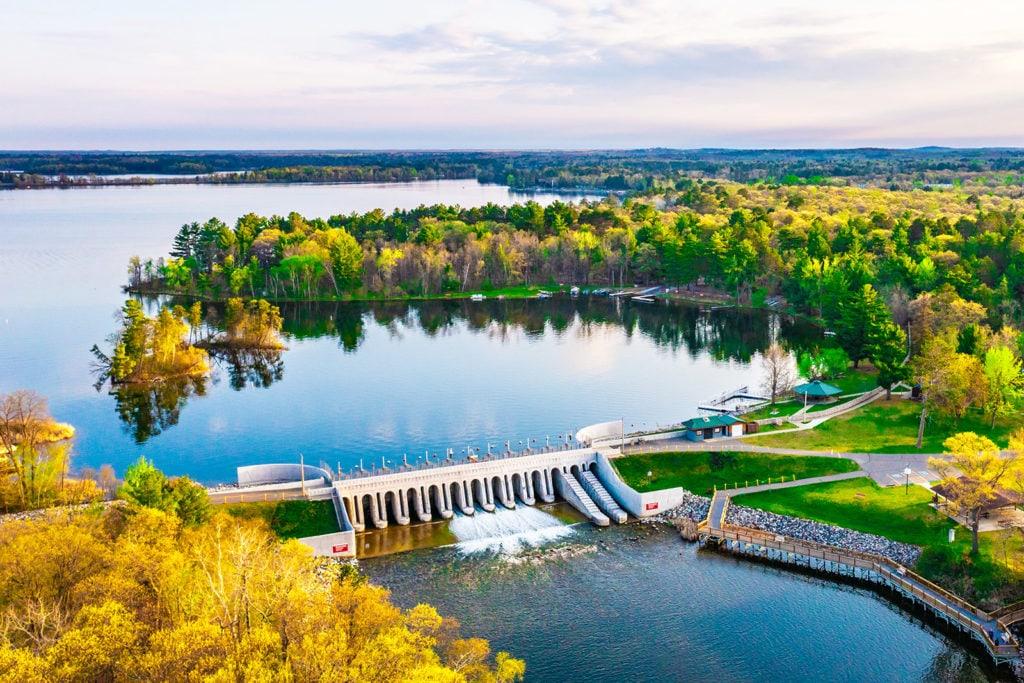 Dam at Whitefish Chain