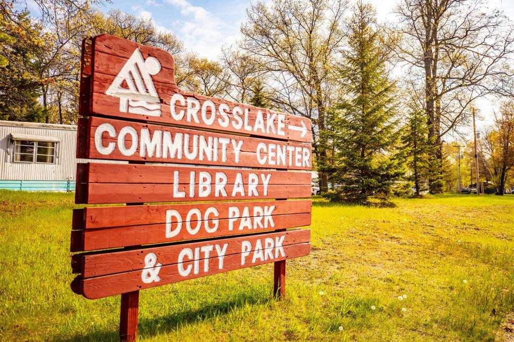 Crosslake Community Center sign