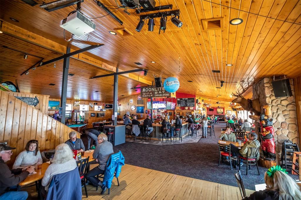 Moonlite bay indoor dining